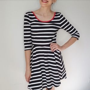 EXPRESS A Line Striped Nautic Dress
